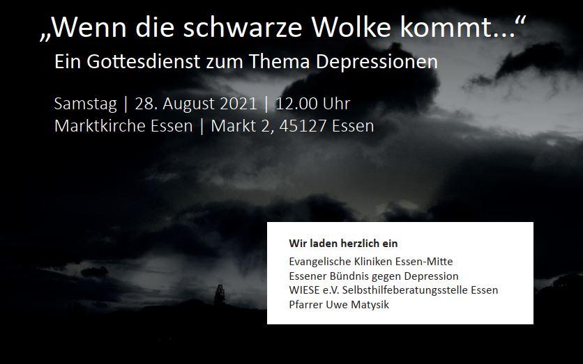 """""""Wenn die scharze Wolke kommt..."""" - Ein Gottesdienst zum Thema Depression"""