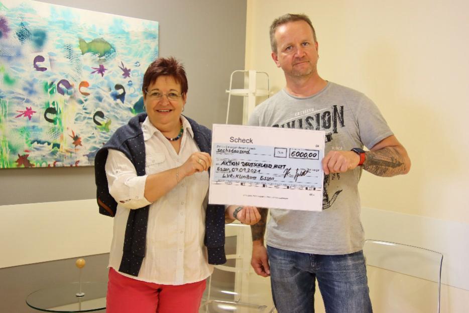 Spende: 6000 Euro für Betroffene der Hochwasserkatastrophe