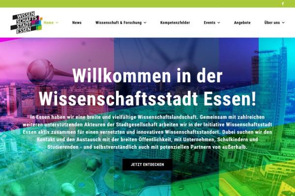 Wissenschaftsstadt Essen: Initiative mit neuem Internet-Auftritt